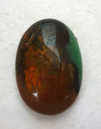 Chrysocolla cabochon from Indonesia