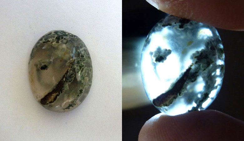 Indonesian Moss Agate Cab