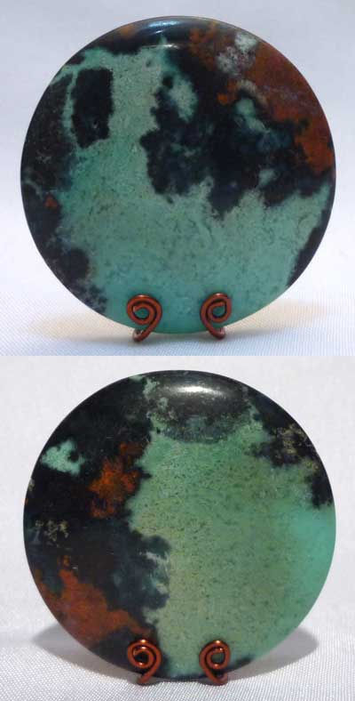 Chrysocolla gem from Indonesia