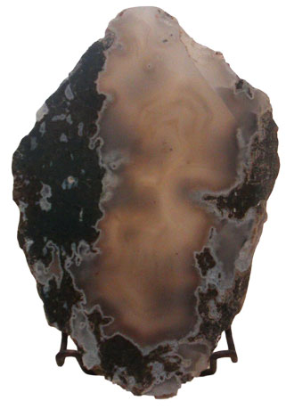 Translucent Indonesian Moss Agate slab