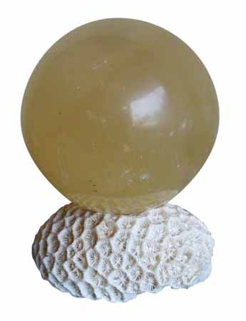 Calcite Sphere Ball Decoration